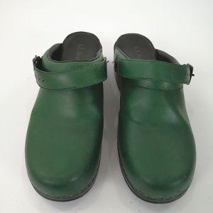 L.L Bean Clogs Sherwood Green Women's Size 9